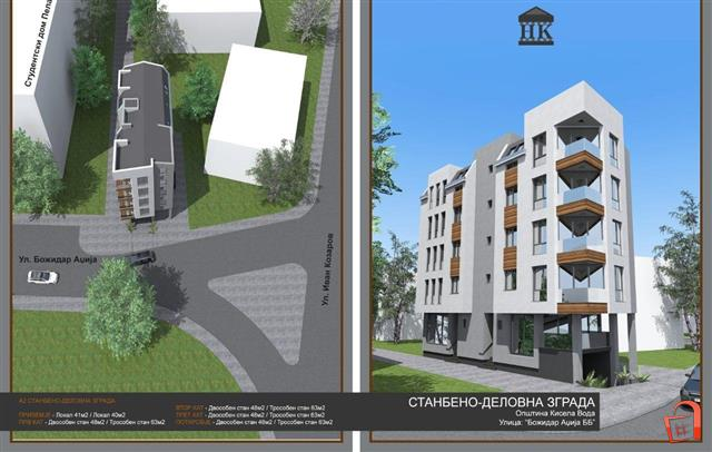 New apartments under construction Kisela Voda near the student dormitory